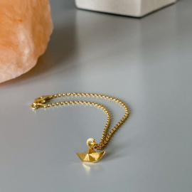 Row your boat armband - goldplated
