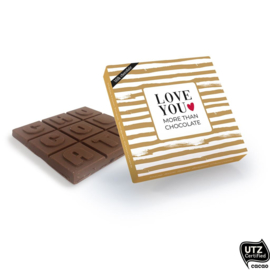 Love you more than chocolate  - melk