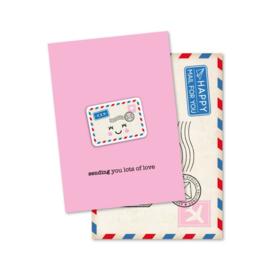 Magneetkaart - sending you lots of love