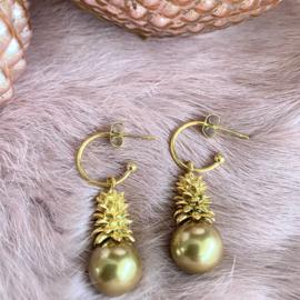 Jingle all the way oorbellen - goud