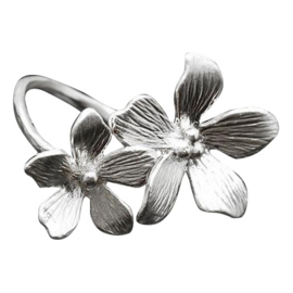 Silver luck ring - I'll bring you flowers