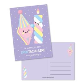 Ansichtkaart - ik wens je een SPEKtaculaire verjaardag!