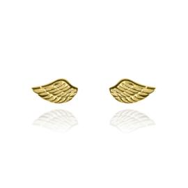 Silver luck vleugeltjes oorstekers goud