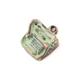 Gleeful Peacock -Typewriter ketting mint