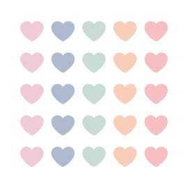 CollectivWarehouse - SOW & GROW Hearts cadeaustickers mini pastel