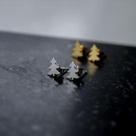 Silver luck kerstboom oorbellen .925 zilver