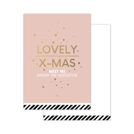 CollectivWarehouse - Minikaartje Christmas wishes roze