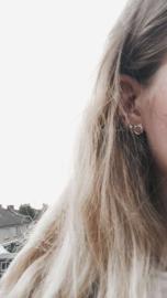 Silver luck oorbellen - cat goud of zilver