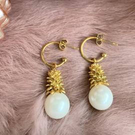 Jingle all the way oorbellen - pearl