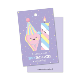 Kadolabel | ik wens je een SPEKtaculaire verjaardag!