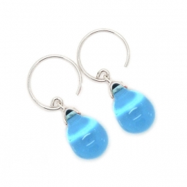 Happy tear oorbellen sapphire