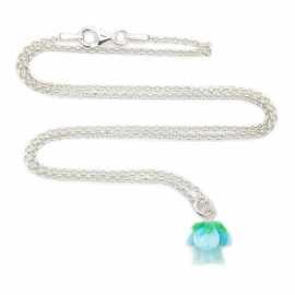 Silver luck something blue ketting