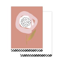 CollectivWarehouse - Minikaartjes Arts & Crafts Flowers old pink