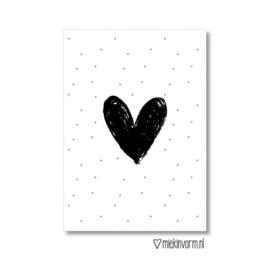 MIEKinvorm ansichtkaart - groot hart