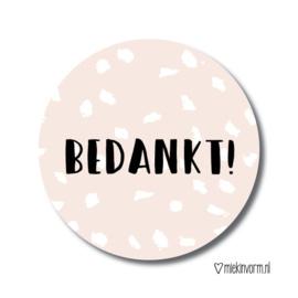 MIEKinvorm stickers - Bedankt!