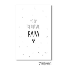 MIEKinvorm minikaart - Voor de liefste papa