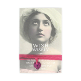 Wish wisely fucshia