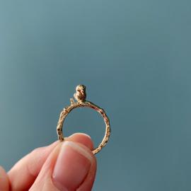 Wish birdie gold ring -> licht-beschadigd