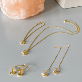 Row your boat oorhangers - goldplated