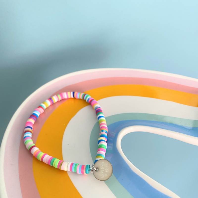 Armband Color Explosion - zilver