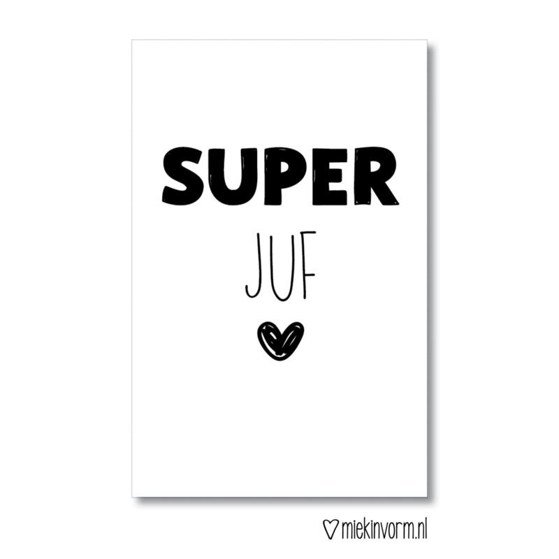 MIEKinvorm minikaart - Super juf