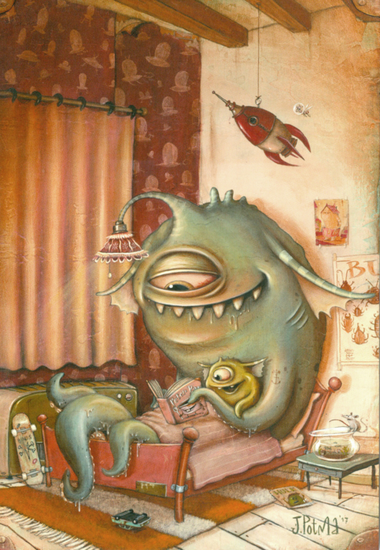 Zozoville ansichtkaart 'Bedtime Stories'