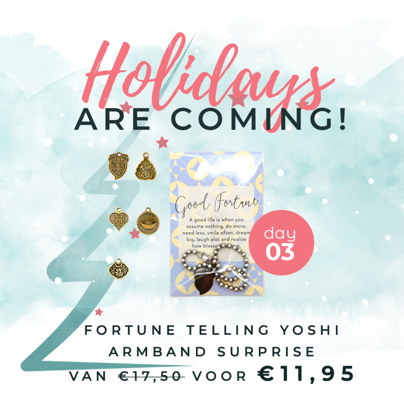 Day 3: Fortune Telling armband Surprise van € 17,50 voor € 11,95