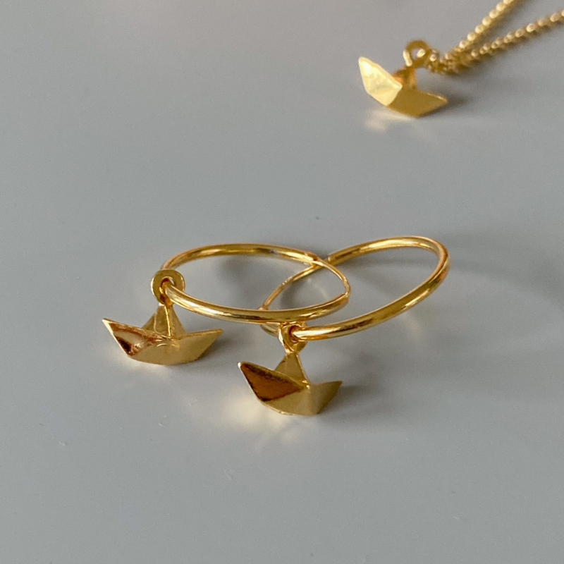 Row your boat creolen - goldplated