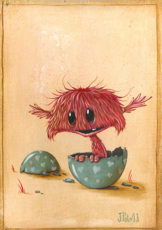 Zozoville ansichtkaart 'Peek a Boo'