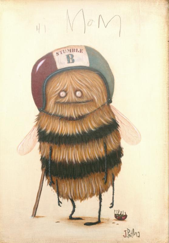 Zozoville ansichtkaart 'Stumblebee'
