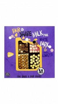 Fair & Share Milk pink white dark & crispy confetti