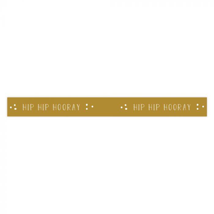 Lint - Hip Hip Hooray - Ocre Yellow