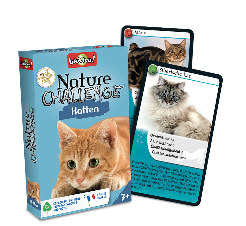 Nature Challenge - Katten - Educatief kaartspel