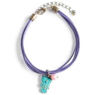 Gleeful Peacock - Color Theory armband 'Owl'