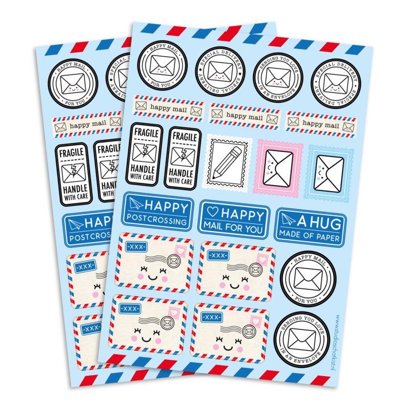 Stickervel A5 | happy mail