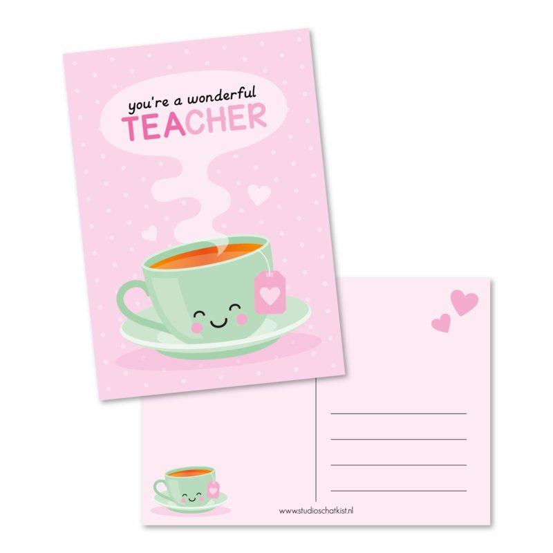 Kaart A6 | you're a wonderful teacher