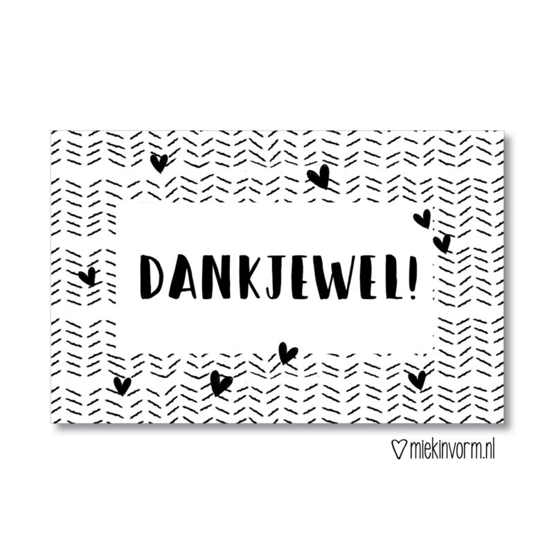 MIEKinvorm minikaart - dankjewel!