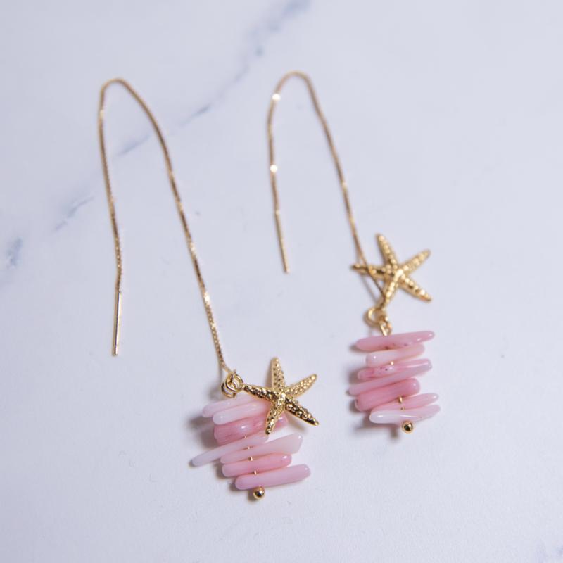 Pink Summer oorhangers