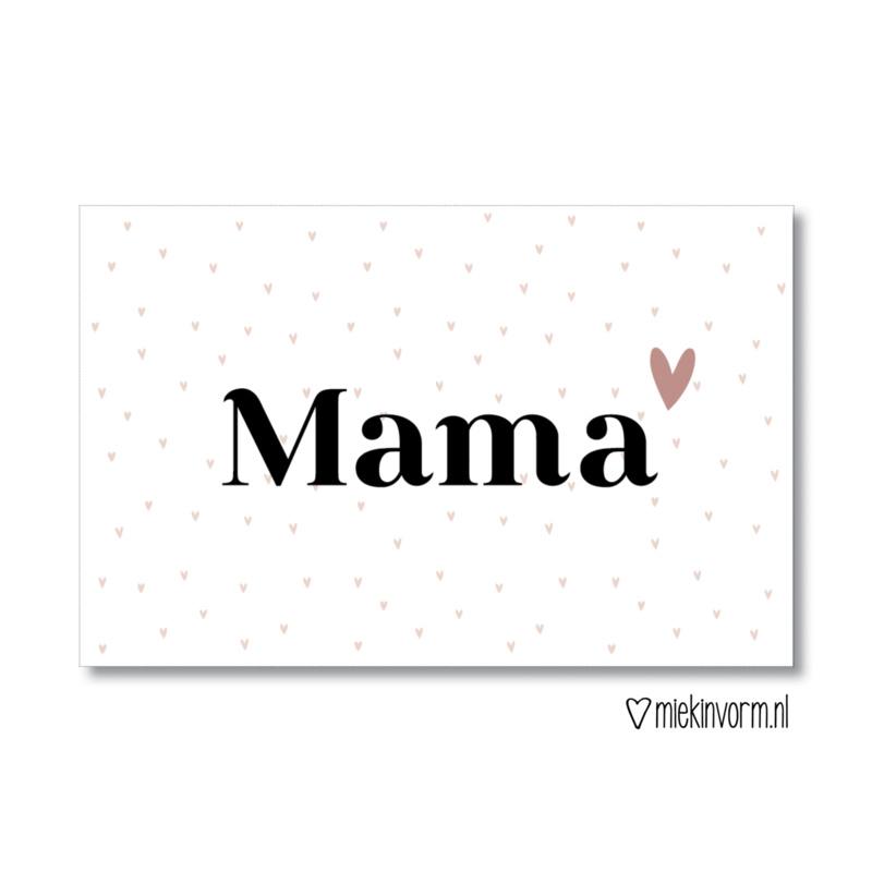 MIEKinvorm minikaart - Mama