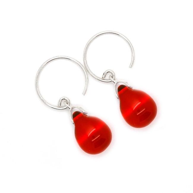 Happy tear oorbellen bright red