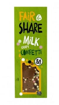 Milk Crispy Confetti Chocolate Bar