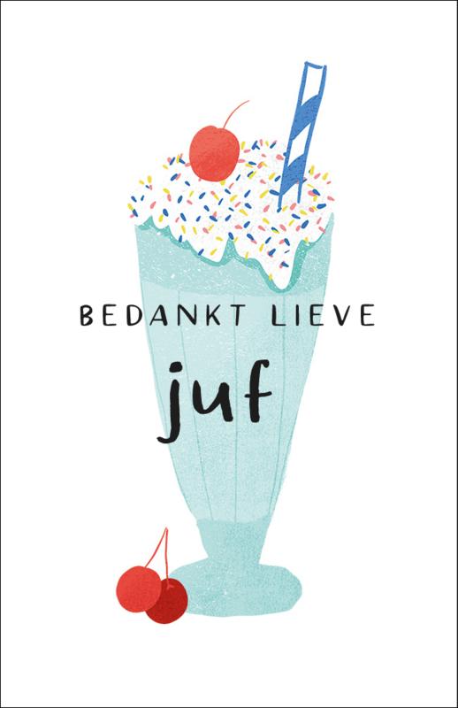 Applepiepieces minikaart ijsje - Bedankt lieve juf!