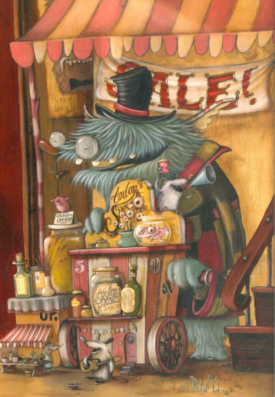 Zozoville ansichtkaart 'The Hustle and Bustle'