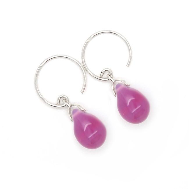 Happy tear oorbellen berry opal