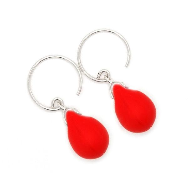 WIN - Happy tear oorbellen poppy red