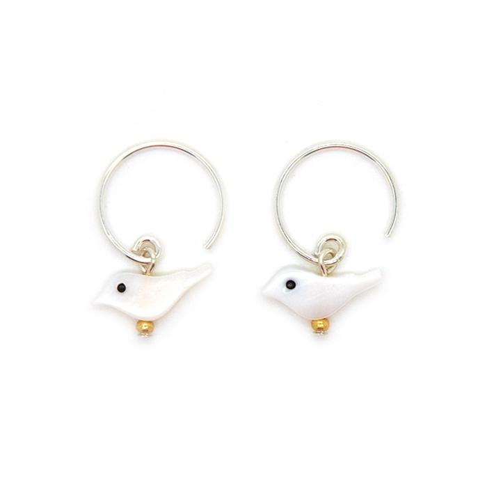 Snow bird oorbellen