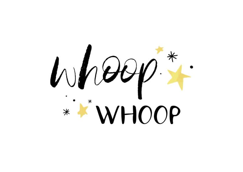 Applepiepieces ansichtkaart - Whoop whoop