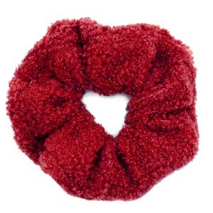 Scrunchies haarelastiek teddy Red