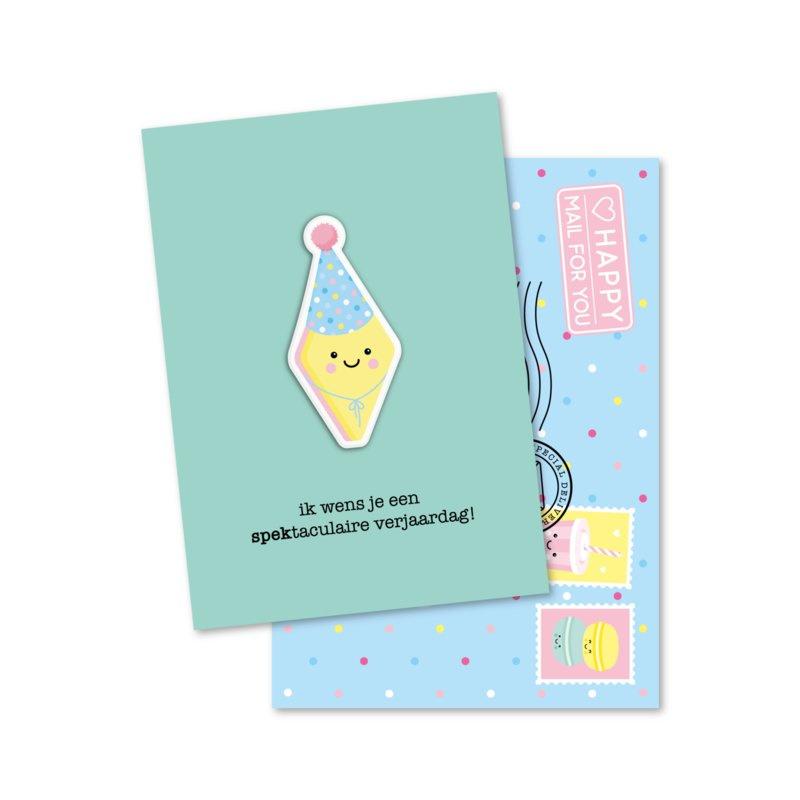 Magneetkaart - ik wens je een spektaculaire verjaardag!