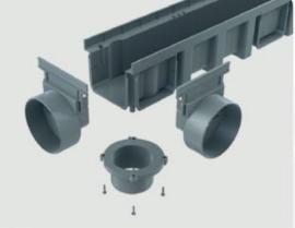 Connecto 100-2  met design pp sleufrooster, 100x11,5